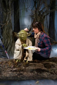 Yoda in his swamp as Madame Tussauds London announce a new multi-million pound Star Wars experience